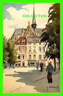 BRUXELLES, BELGIQUE - PLACE ET ÉGLISE DU SABLON -  EDITION STEHLI - PEINTURE ED HUBBECHINECK - - Places, Squares