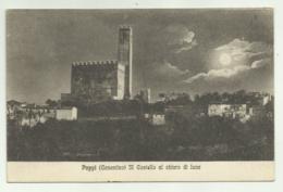 POPPI ( CASENTINO ) IL CASTELLO AL CHIARO DI LUNA  VIAGGIATA FP - Arezzo