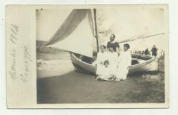 VIAREGGIO FAMIGLIA IN SPIAGGIA 1914  FOTOGRAFICA NV FP - Viareggio