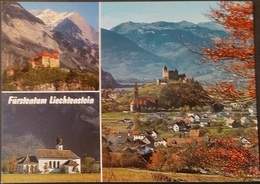 Ak Liechtenstein -  Schloss Gutenberg - Kapelle Maria Hilf - Übersicht - Liechtenstein