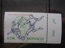 MONACO 2002 Y&T N° 2350 ** - COUPE DU MONDE DE FOOTBALL 2002 - Monaco