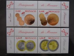 MONACO 2002 Y&T N° 2356 à 2359 ** - PIECES DE MONNAIES MONEGASQUE EN EURO - Neufs