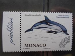 MONACO TAXE 2007 Y&T N° 114 ** - FAUNE MARINE - CETACE - Taxe