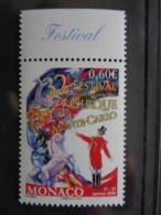 MONACO  2007 Y&T N° 2602 ** - 32e FESTIVAL DU CIRQUE MONTE CARLO - Monaco