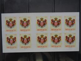 MONACO  CARNET DATE DE 2009 ** ( 10 TIMBRES ) - Carnets