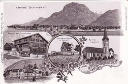 **  Carte Postale - Postkarte - Weltpostverein. Seedorf BE, Restaurant: Franz Jauch U. Schlösschen Apro - AR Appenzell Rhodes-Extérieures