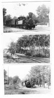 LANDES (40) Ensemble De 3 Photographies Format Cpa Chemin De Fer Ligne De LABENNE à SEIGNOSSE 1946 - Sonstige Gemeinden