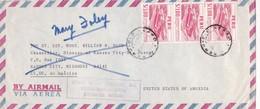 1960'S PERU AIRMAIL CIRCULEE TO USA. TIMBRES UNIES- BLEUP - Pérou