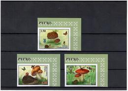 Tajikistan. 2019 Mushrooms(Butterflies,Hedgehog,Frog).Imperf 3 V:3.50,4.20,5.80 - Tayikistán