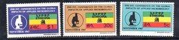 ETP126 - ETIOPIA 1967 ,  Yvert  N 490/492    ***  MICROBIOLOGIA - Etiopia