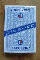 Jeu De 54 Cartes Neuf Sous Blister - Publicité E. Leclerc - Grande Distribution - 54 Cartes