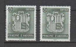 ANDORRA C. ESPAÑOL VARIEDAD PUNTOS EN UNO DE LOS SELLOS(S.2) - Nuevos