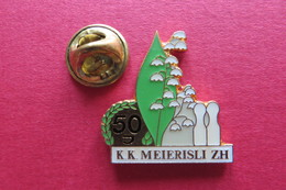 Pin's,Sport,Bowling,Muguet,K.K.MEIERISLI ZH,Suisse,Kegel-Club - Bowling