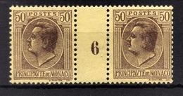 MONACO 1924 / 1933 - PAIRE Y.T.  N° 87  - NEUFS** MILLESIME 6 - Unused Stamps