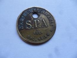 """(Société Protectrice Des Animaux) - Ancienne Médaille  """"S.P.A. Paris, Bd. Berthier """" Matriculée C Y  6194.....voir Scans - France"""