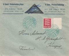 ESTLAND Brief 1935 - 15 S Auf Firmenbrief Gel.v. Tallin > Finnland - Estland