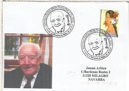 SALVATERRA DO MIÑO CC CON MAT ALFREDO NAVARRO PAYA FILATELICO - 1931-Hoy: 2ª República - ... Juan Carlos I