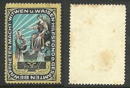AUSTRIA Ca 1910 Charity Wohlfahrt Poster Stamp Vignette - Vignetten (Erinnophilie)