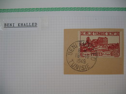 Tunisie Oblitéré, Lot De Timbres, Oblitération choisies De  Beni Khalled    Voir Scan - Tunisia (1888-1955)