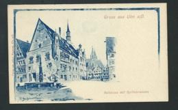 Gruss Aus ULM A.d.   Rathhaus Mit Syrlinbrunnen   - Mbj69 - Ulm