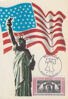 Carte  Maximum  1er   Jour   MONACO    Bicentenaire  Des   U.S.A    1976 - Unabhängigkeit USA