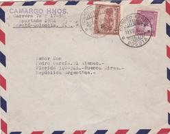 1944 AIRMAIL COLOMBIA- CAMARGO HNOS. CIRCULEE TO ARGENTINE, BANDELETA PARLANTE - BLEUP - Colombie
