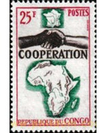 Ref. 609298 * MNH * - CONGO. 1964. COOPERATION . COOPERACION - Congo - Brazzaville