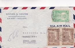 1950'S AIRMAIL BOLIVIA-DANIEL J.TOVAR REPRESENTACIONES. CIRCULEE TO ARGENTINE - BLEUP - Bolivie