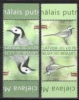 LATVIA, 2019, MNH, EUROPA, BIRDS, TETE BECHE, 4v - 2019
