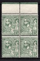 MONACO 1919 / 1921 - BLOC DE 4 TP / Y.T. N° 44  -  NEUFS** - Monaco