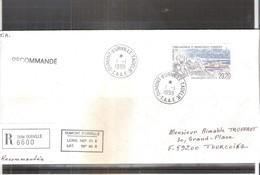 Lettre Recommandée Des T.A.A.F. Vers La France - 1999 - Bateau (à Voir) - FDC