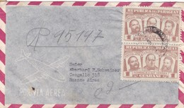 1950'S AIRMAIL PARAGUAY. CIRCULEE TO ARGENTINE, TIMBRE A PAIR- BLEUP - Paraguay