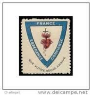 France - Esperance - Confiance WWI Vignette  Military Heritage Poster Stamp - Military Heritage