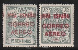 ESPAGNE -  PA N°166+167A * (1937) VIVA ESPANA-CORREO AERO - Unused Stamps