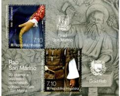 Ref. 292663 * MNH * - CROATIA. 2012. MARIDAJE DE LA ISLA DE RAB (CROACIA) Y CUIDAD DE SANT-MARIN - Croazia