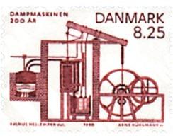 Ref. 96334 * MNH * - DENMARK. 1990. BICENTENARY OF STEAM ENGINE . 2 CENTENARIO DE LA MAQUINA DE VAPOR - Unused Stamps