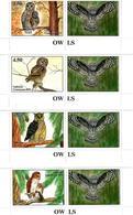 Tajikistan. 2019 Owls.  4v:3.50,4.50,5.80,6.00 +label - Tadschikistan