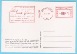 J.M. 28 - EMA - Italie - 40 - Maître De Chapelle - CALDERARA - Spécimen - Musique