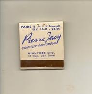 Pochette Allumettes LASTAR De 1953 Neuve Et Pleine:Pierre JACY Coiffeur Paris Et New York - Boites D'allumettes