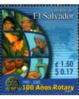 Ref. 185026 * MNH * - EL SALVADOR. 2005. CENTENARY OF ROTARY CLUB INTERNATIONAL . CENTENARIO DEL ROTARY CLUB INTERNACION - El Salvador