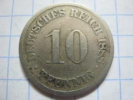 10 Pfennig 1888 (A) - [ 2] 1871-1918 : German Empire