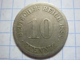 10 Pfennig 1888 (D) - [ 2] 1871-1918 : German Empire