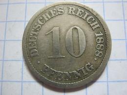 10 Pfennig 1888 (J) - [ 2] 1871-1918 : German Empire