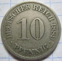 10 Pfennig 1889 (A) - [ 2] 1871-1918 : German Empire