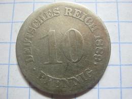 10 Pfennig 1889 (F) - [ 2] 1871-1918 : German Empire