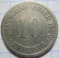 10 Pfennig 1890 (G) - [ 2] 1871-1918 : German Empire