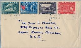 1957 , MALAYA , MALAISIE  - KEDAH , FEDERACIÓN DE MALASIA , ALOR SETAR - MICHIGAN , YV. 80 , 90 , 91 , 93 - Kedah