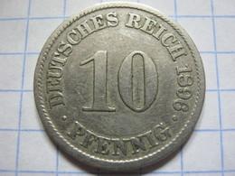 10 Pfennig 1896 (A) - [ 2] 1871-1918 : German Empire