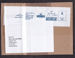 UK: Parcel Fragment (cut-out) To Netherlands, 2019, Meter Cancel, Moore 4 Motors Car Parts, Automobile (tape & Crease) - 1952-.... (Elizabeth II)