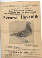 MA/1/   VERKOPING DUIVEN   E.HAVENITH HOBOKEN 1954   25p  Met Vele Fotos - Revues & Journaux